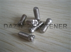Chess head cross recess soloted machine screw SUS304